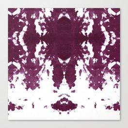 Velvet Kumo Shibori Plum Canvas Print