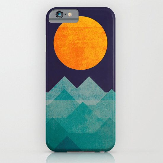 The ocean, the sea, the wave - night scene iPhone & iPod Case