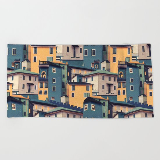 Night Castles (Pattern) Beach Towel