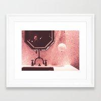 bathroom Framed Art Prints featuring Bathroom  by Elsa Harley