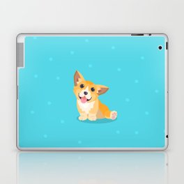 Sitting Cute Corg Laptop & iPad Skin