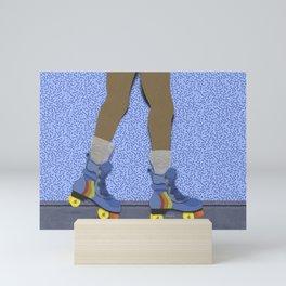 skater girl. Mini Art Print