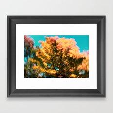 golden swirl Framed Art Print