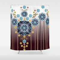 folk Shower Curtains featuring Folk Festival by Vikki Salmela