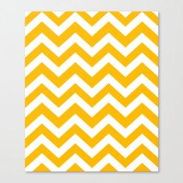 Selective yellow - orange color - Zigzag Chevron Pattern Canvas Print