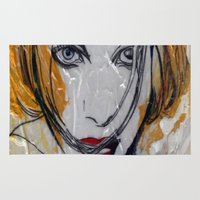 blondie Area & Throw Rugs featuring Blondie by Capracotta Art