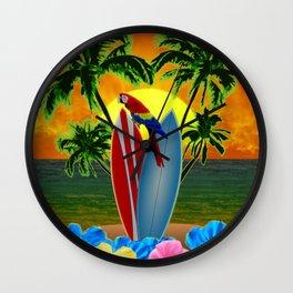 Tropical Sunset Wall Clock