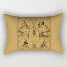 The five stages of cycling (bicycle history) Rectangular Pillow