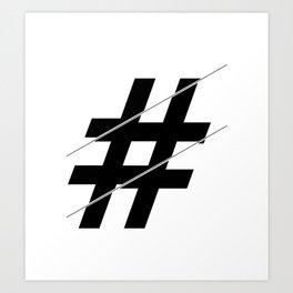 """Sliced Collection"" - Minimal Number Sign Print Art Print"