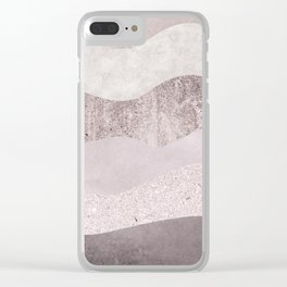 Abstract Wave Texture Clear iPhone Case
