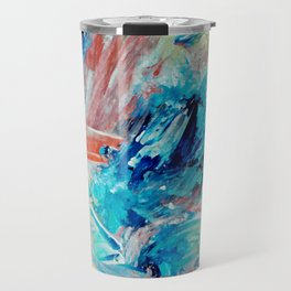Contemporary Abstract Splash Landing Travel Mug