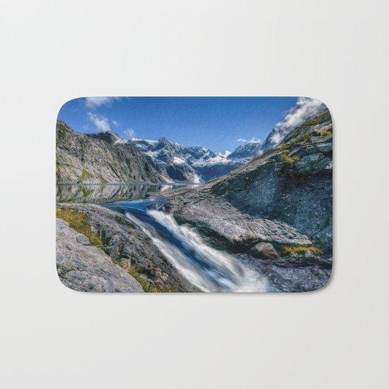 Mountain Creek #blue Bath Mat