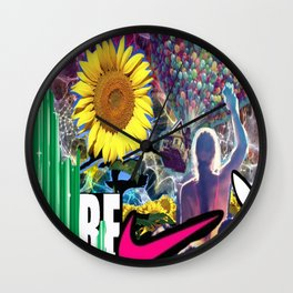 the FLOWER& the BEE Wall Clock
