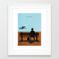 forrest gump Framed Art Prints featuring Forrest Gump by Ayse Deniz
