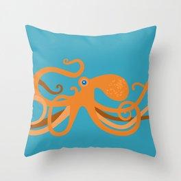 Octopus Swirl Throw Pillow