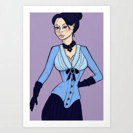 Blue Sienna Art Print