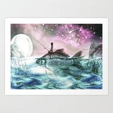 Oceans Inbetween Us Art Print