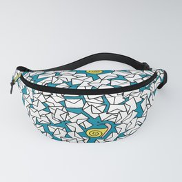 Snail Mail Turquoise Fanny Pack