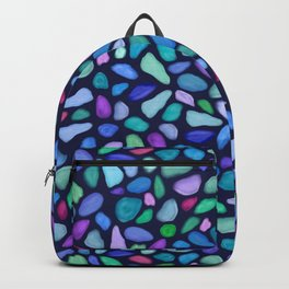 Colorful Scattered Sea Glass Design Backpack