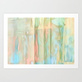 Streaks Of Colors Abstract - Pastel Art Print