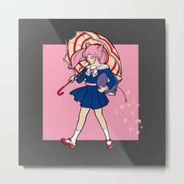 Salty Magical Girl Metal Print