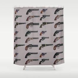 old handgun Shower Curtain