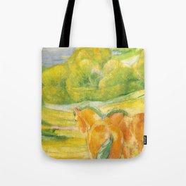 """Franz Marc """"Large Landscape I (Landschaft I)"""" Tote Bag"""