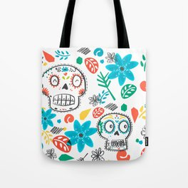Summer sugar skulls Tote Bag