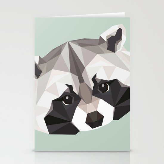 R is for Raccoon Stationery Cards