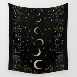 Crescent Moon Garden Wall Tapestry