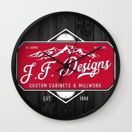JF Designs Custom Cabinets & Millwork Wall Clock