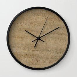 Magna Carta Wall Clock