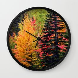 Deep in the Forest (Fall Colors) Wall Clock