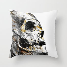Day 0923 /// Skeletoon shader Throw Pillow