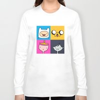 finn and jake Long Sleeve T-shirts featuring Finn & Jake by fungopolly