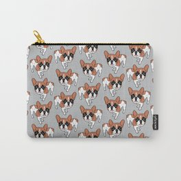 Black Mask Red Pied French Bulldog Carry-All Pouch