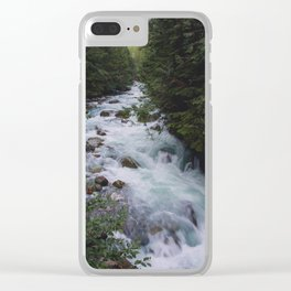 Nooksack River - Pacific Northwest Clear iPhone Case