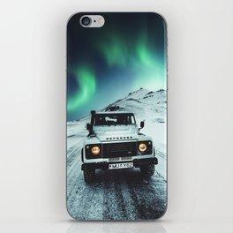 aurora in iceland iPhone Skin