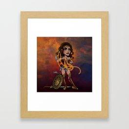 Bombshell Diana Framed Art Print