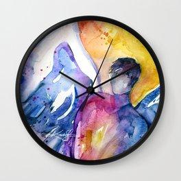 Luke Angel by Kathy Morton Stanion Wall Clock