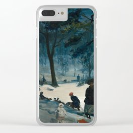 Central Park, Winter Clear iPhone Case
