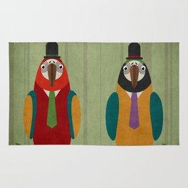 Suited parrots Rug