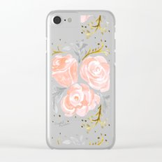 Sparkling Rosé flora Clear iPhone Case