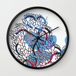 Folk Billows Wall Clock