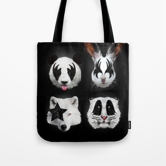 Kiss of animals Tote Bag