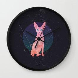Galaxy Sphynx Cat Wall Clock