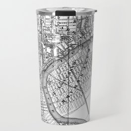 Vintage Map of Newark NJ (1872) BW Travel Mug