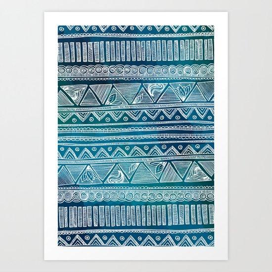 Hippie Pattern Art Print