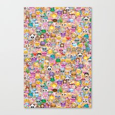 emoji / emoticons Canvas Print