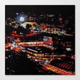 Udon Night Lights Canvas Print